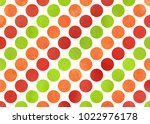 watercolor red  green and... | Shutterstock . vector #1022976178