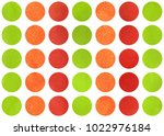 watercolor circles in red ... | Shutterstock . vector #1022976184