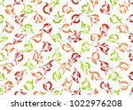 watercolor red  green and... | Shutterstock . vector #1022976208