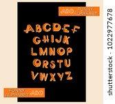abc. funny alphabet. design a... | Shutterstock .eps vector #1022977678
