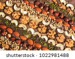 oriental sweets with a variety... | Shutterstock . vector #1022981488