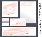 corporate identity templates... | Shutterstock .eps vector #1022986180