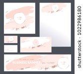 corporate identity templates... | Shutterstock .eps vector #1022986180