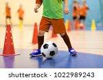 football futsal training for... | Shutterstock . vector #1022989243