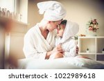 mother and daughter love is...   Shutterstock . vector #1022989618