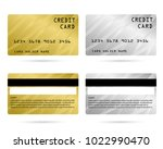 modern credit card  business... | Shutterstock .eps vector #1022990470