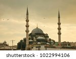 blue mosque in istanbul turkey  ... | Shutterstock . vector #1022994106