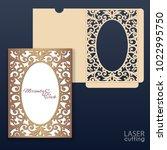 die laser cut wedding card... | Shutterstock .eps vector #1022995750