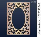 laser cut paper lace frame ... | Shutterstock .eps vector #1022995768