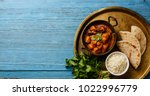 chicken tikka masala spicy... | Shutterstock . vector #1022996779