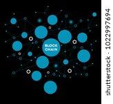blockchain network concept  ... | Shutterstock .eps vector #1022997694
