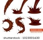 delicious dark chocolate drink... | Shutterstock .eps vector #1023001630