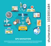navigation background with... | Shutterstock .eps vector #1023001684