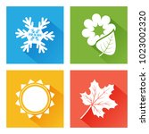 seasons icon. set of nature.... | Shutterstock .eps vector #1023002320