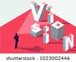 businessman with strategic... | Shutterstock .eps vector #1023002446