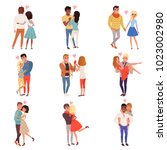 young men and women characters... | Shutterstock .eps vector #1023002980