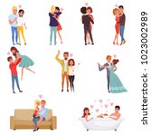 young men and women characters... | Shutterstock .eps vector #1023002989