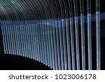 wall made of plexiglas  backlit ... | Shutterstock . vector #1023006178