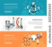 nano technologies set of... | Shutterstock .eps vector #1023006343
