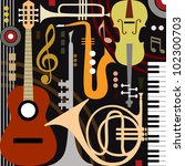 abstract colored music...   Shutterstock .eps vector #102300703