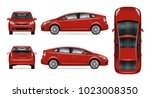 red car vector mock up.... | Shutterstock .eps vector #1023008350