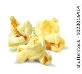 tasty popcorn. elements for... | Shutterstock .eps vector #1023016414