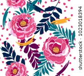 colorful seamless pattern... | Shutterstock .eps vector #1023018394