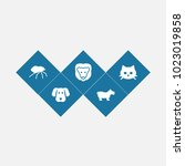 set of 5 zoology icons set.... | Shutterstock .eps vector #1023019858