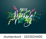 Floral Spring Card Or Poster...