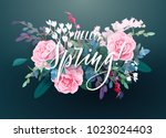 Floral Spring Card Or Poster...