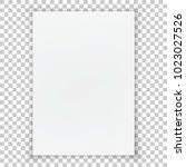 a4 format blank paper. vector... | Shutterstock .eps vector #1023027526