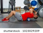 man doing auto mobilization... | Shutterstock . vector #1023029209