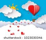 love or valentine's day... | Shutterstock .eps vector #1023030346