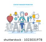content manager promotion. work ... | Shutterstock .eps vector #1023031978