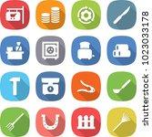 flat vector icon set   shop... | Shutterstock .eps vector #1023033178