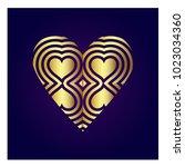 simple vector heart icon | Shutterstock .eps vector #1023034360