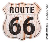 grungy and rusted route sixty... | Shutterstock .eps vector #102303730
