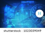 abstract technological health... | Shutterstock .eps vector #1023039049