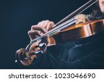 Playing The Violin. Musical...