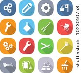 flat vector icon set   gear... | Shutterstock .eps vector #1023050758