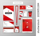 corporate identity template... | Shutterstock .eps vector #1023051184