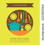 cookery card. vector... | Shutterstock .eps vector #102305563