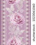 seamless pattern. decorative...   Shutterstock . vector #1023061060