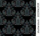 seamless dark traditional... | Shutterstock . vector #1023061939