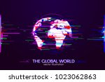 the global world with... | Shutterstock .eps vector #1023062863