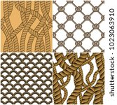 seamless patterns rope woven