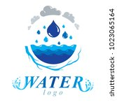 pure water vector abstract... | Shutterstock .eps vector #1023065164