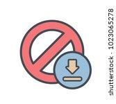 block cancel download lock stop ...   Shutterstock .eps vector #1023065278