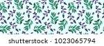 bay leaf pattern  wedding honor ...   Shutterstock . vector #1023065794