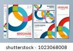 circle corporate identity set... | Shutterstock .eps vector #1023068008